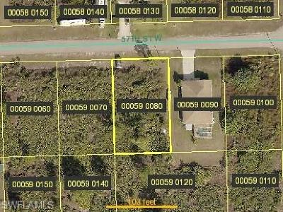 Lehigh Acres Residential Lots & Land For Sale: 2705 57th St W