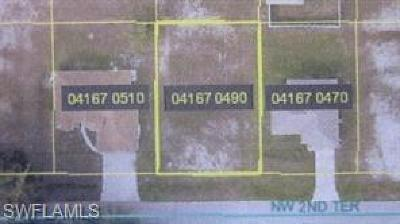 Cape Coral Residential Lots & Land For Sale: 3413 NW 2nd Ter