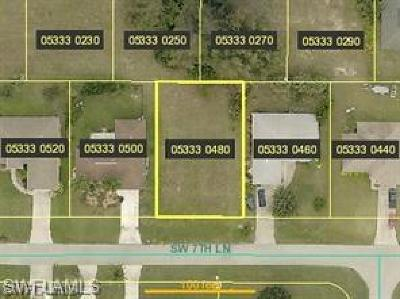 Cape Coral Residential Lots & Land For Sale: 3239 SW 7th Ln