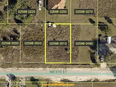 Lee County Residential Lots & Land For Sale: 425 NW 5th St