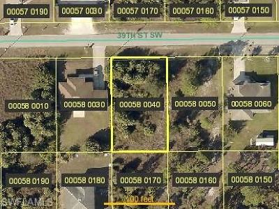 Lee County Residential Lots & Land For Sale: 3313 39th St SW