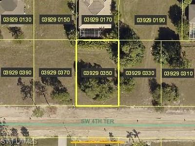 Lee County Residential Lots & Land For Sale: 2639 SW 4th Ter