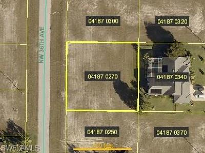 Lee County Residential Lots & Land For Sale: 527 NW 36th Ave