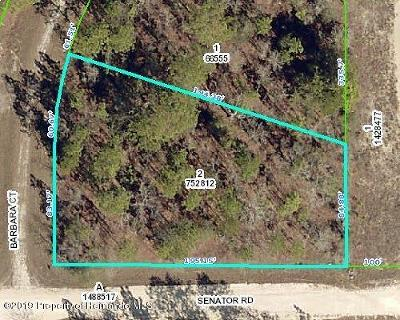 Weeki Wachee FL Residential Lots & Land For Sale: $8,999