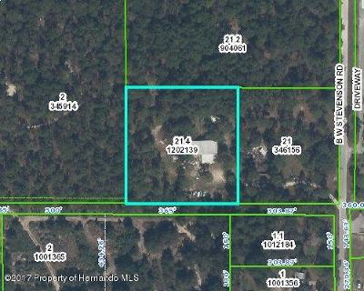 Brooksville Single Family Home For Sale: 7485 W B Stevenson Road