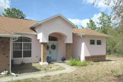 Weeki Wachee Single Family Home For Sale: 15285 Herschel Road