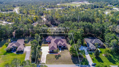 Woodland Waters Phase 1, Woodland Waters Phase 2, Woodland Waters Phase 4, Woodland Waters Phase 5 Single Family Home For Sale: 9440 Hernando Ridge Road