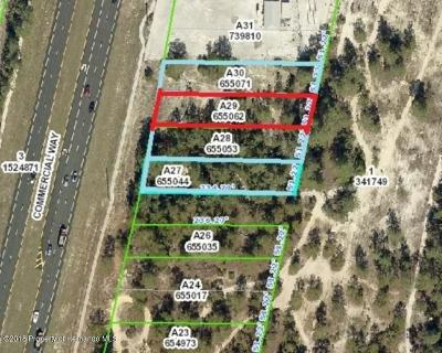 Weeki Wachee FL Commercial Lots & Land For Sale: $90,000
