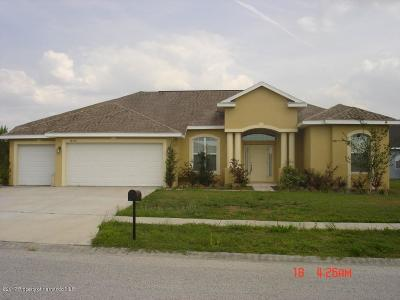 Brooksville Single Family Home For Sale: 18156 Rivard Boulevard