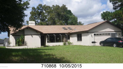 Spring Hill Single Family Home For Sale: 6511 Grapewood Road