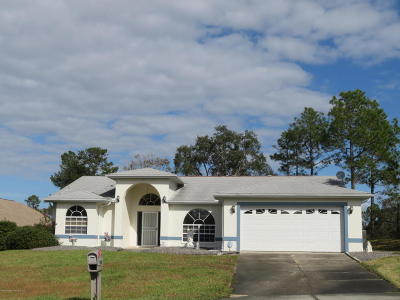 Weeki Wachee Single Family Home For Sale: 12007 Granada Place