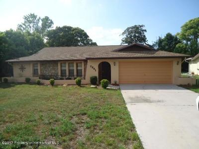 Weeki Wachee Single Family Home For Sale: 7341 Berwick Way