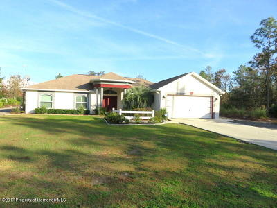 Weeki Wachee Single Family Home For Sale: 18328 Maberly Road
