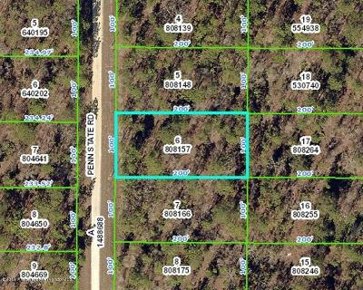 Residential Lots & Land For Sale: Penn State Rd