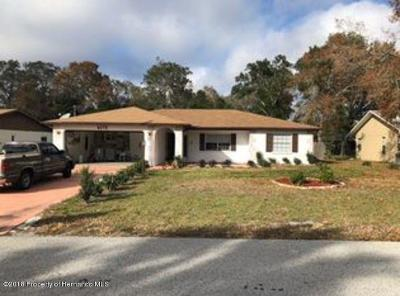 Spring Hill FL Single Family Home For Sale: $159,000