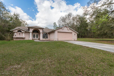 Brooksville Single Family Home For Sale: 27155 Colassa Road