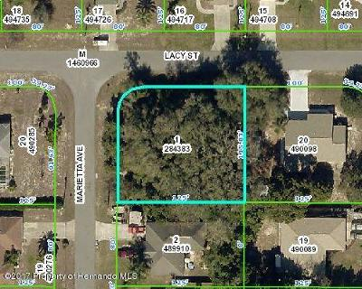 Spring Hill FL Residential Lots & Land For Sale: $19,900
