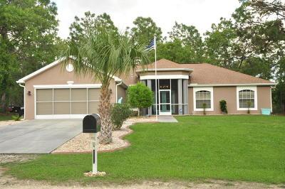 Weeki Wachee Single Family Home For Sale: 15378 Glossy Ibis Road