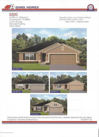 Brooksville Single Family Home For Sale: 7154 Wirevine Drive