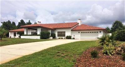 Weeki Wachee Single Family Home For Sale: 7187 River Country Drive