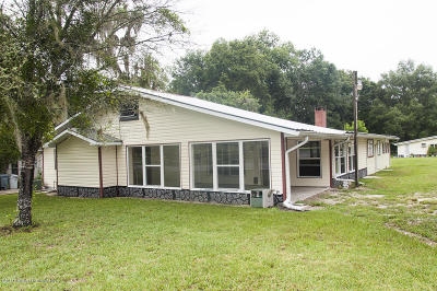 Brooksville Single Family Home For Sale: 12376 Old Crystal River Road