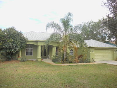 Weeki Wachee Single Family Home For Sale: 5266 Sandra Drive