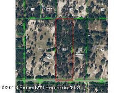 Spring Hill(Pasco) Residential Lots & Land For Sale: Shirla Rae Drive
