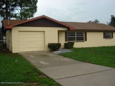 Spring Hill FL Single Family Home For Sale: $112,900