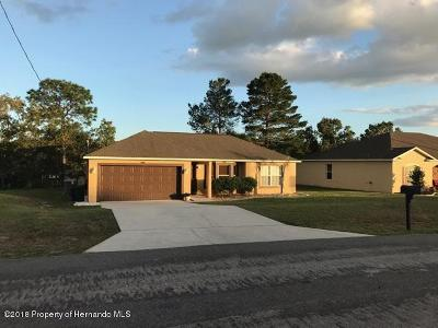 Hernando County Single Family Home For Sale: 4416 Dior Road