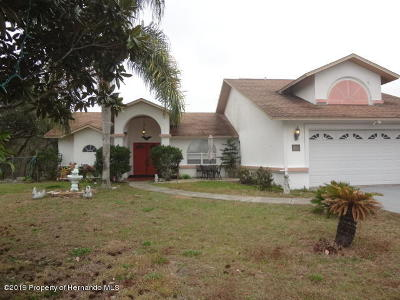Spring Hill(Pasco) Single Family Home For Sale: 18102 Sand Pine Drive