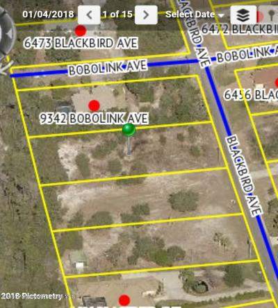 Residential Lots & Land For Sale: Blackbird Avenue