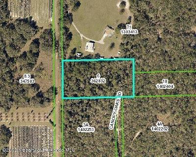 Brooksville Residential Lots & Land For Sale: Canopy Oaks Road
