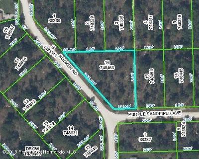 Weeki Wachee Residential Lots & Land For Sale: Purple Sandpiper Avenue
