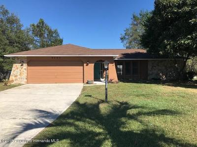 Spring Hill Single Family Home For Sale: 9567 Horizon Drive