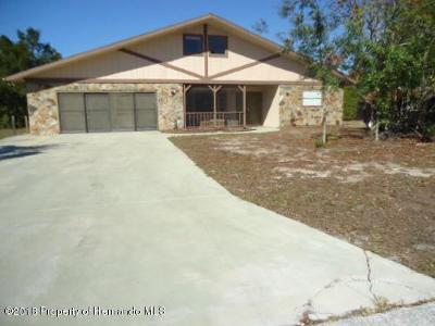 Weeki Wachee Single Family Home For Sale: 8568 Heather Boulevard