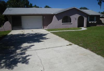 Spring Hill Single Family Home For Sale: 8387 Eric Street