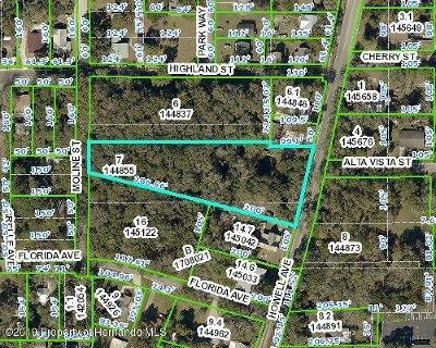 Brooksville Residential Lots & Land For Sale: O Howell