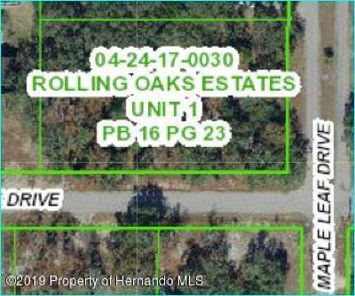 Hudson Residential Lots & Land For Sale: Maple Leaf Drive