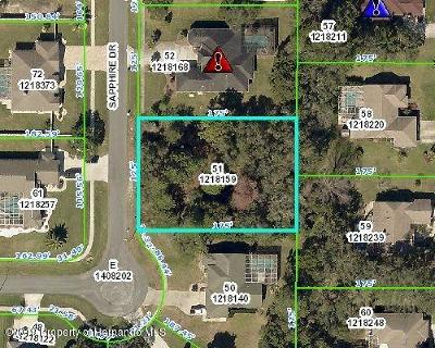 Spring Hill Residential Lots & Land For Sale: 12074 Sapphire Drive