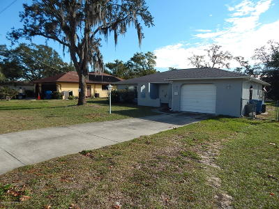 Spring Hill FL Single Family Home For Sale: $134,000