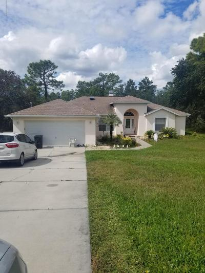 Weeki Wachee Single Family Home For Sale: 8041 Madrid Road