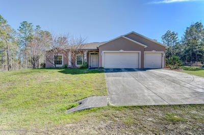 Weeki Wachee Single Family Home For Sale: 15436 Fleetwood Road