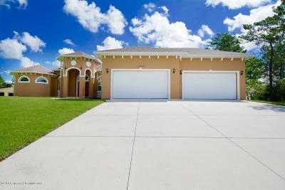 Weeki Wachee Single Family Home For Sale: 10122 Lazy Days Court