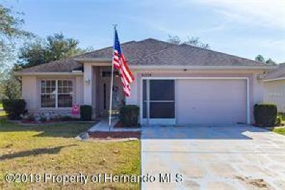 Brooksville Single Family Home For Sale: 31354 Spoonflower Way
