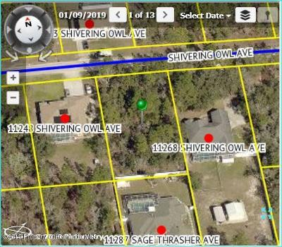 Brooksville Residential Lots & Land For Sale: 11258 Shivering Owl Avenue