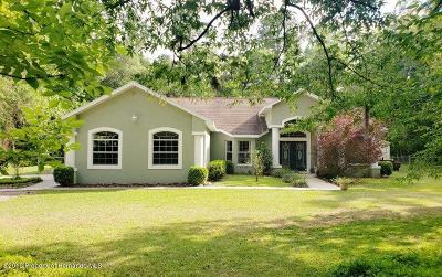 Brooksville Single Family Home For Sale: 21152 Ted Road