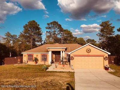 Weeki Wachee Single Family Home For Sale: 12034 Labrador Duck Road