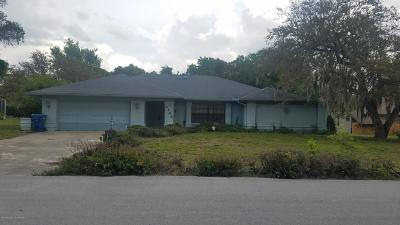Spring Hill Single Family Home For Sale: 3144 Abeline Road