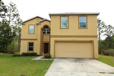 Weeki Wachee Single Family Home For Sale: 18062 Palmdale Road