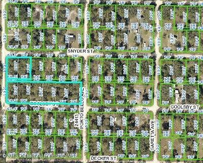 Ridge Manor Residential Lots & Land For Sale: Snyder Street